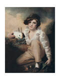 Boy with Rabbit, C1814 Impression giclée par Henry Raeburn