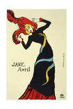 Jane Avril, 1899 Giclee Print by Henri de Toulouse-Lautrec