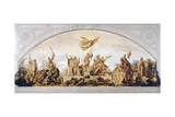 France under the Capetiens, Valois and the Bourbons, 1856 Giclee Print by Henri Lehmann
