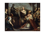 The Idolatry of King Solomon, C1739 Giclée-tryk af Jacopo Amigoni
