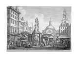View of the Stocks Market, Poultry, City of London, 1753 Giclee Print by Henry Fletcher