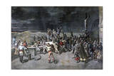 Scene Seven, the Rescue, from the Play Maitre D'Armes, Port of Saint-Martin, 1892 Giclee Print by Henri Meyer