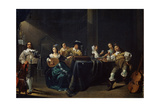 Merry Company, 17th Century Giclee Print by Jacob Duck