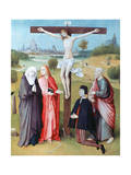 Christ on the Cross with Donors and Saints, C1480-1516 Giclee Print by Hieronymus Bosch
