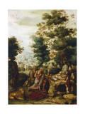 St Jerome in a Landscape, C1530-C1550 Giclee Print by Herri Met De Bles