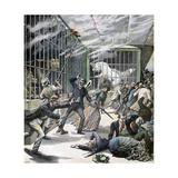 The Incident at the Menagerie, Montceau-Les-Mines, France, 1891 Giclee Print by Henri Meyer