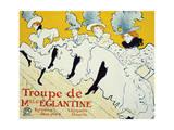 La Troupe De Mlle Églantine, 1896 Lámina giclée por Henri de Toulouse-Lautrec