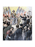 Happy New Year France!, 1891 Giclee Print by Henri Meyer