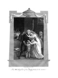 Louis XVI Taking Leave of His Family Previous to His Execution, 1793 Giclee Print by J Brown