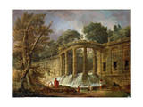 Pavilion with the Cascade, 1760 Giclee Print by Hubert Robert
