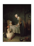 Grace before Dinner (Le Bénédicit), 1744 Giclee Print by Jean-Simeon Chardin