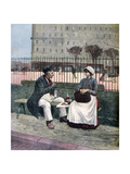 The Worker's Lunch, 1891 Giclee Print by Henri Meyer