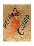May Belfort, Petit Casino, 1895 Giclee Print by Henri de Toulouse-Lautrec