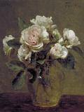 White Roses in a Glass Vase, 1875 Impression giclée par Henri Fantin-Latour