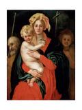 Madonna and Child with Saint Joseph and John the Baptist, 1520S Giclée-tryk af Jacopo Pontormo