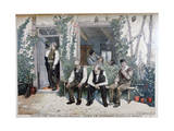 At the Barbers, 1895 Giclee Print by Henri Brispot