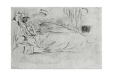 The Model, Lying Down, C1864 Giclee Print by James Abbott McNeill Whistler