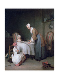 Saying Grace, 1744 Giclee Print by Jean-Simeon Chardin