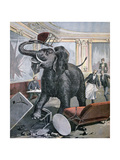 A Elephant in the Pre-Catalan Café, Toulouse, France, 1891 Giclee Print by Henri Meyer