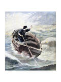 Lost at Sea, 1891 Giclee Print by Henri Meyer