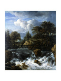 A Waterfall in a Rocky Landscape, 1660-70 Giclee Print by Jacob van Ruisdael