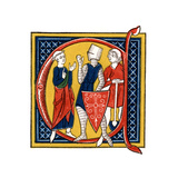 Initial Letter C, Early 14th Century Giclee Print by Henry Shaw