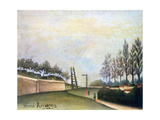 View of the Fortifications to the Left of the Gate of Vanves, 1909 Giclee Print by Henri Rousseau