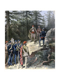 The Corsican Bandit, Jacques Bellacoscia, Surrendering to the Police, 1892 Giclee Print by Henri Meyer