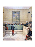 Captain Dreyfus before the Court Martial, 1894 Giclee Print by Henri Meyer