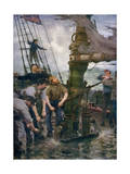All Hands to the Pumps, 1888-1889 Giclee Print by Henry Scott Tuke