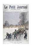 The Frozen Seine, Winter, Paris, 1895 Giclee Print by Henri Meyer