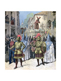 The Procession of the Good Friday, Holy Week, Seville, 1891 Giclee Print by Henri Meyer
