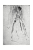 The Velvet Dress, 1873 Giclee Print by James Abbott McNeill Whistler