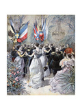 Celebrations in Honour of the Visit of the Russian Fleet in Toulon, 1893 Giclee Print by Henri Meyer