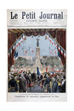 President Faure at the Inauguration Ceremony of a Monument in Nice, 1896 Giclee Print by Henri Meyer