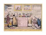 Quaker Uproar, London, 1827 Giclee Print by Isaac Robert Cruikshank