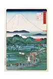 Mount Fuji from the Province of Hara in Suruga, 1860 Giclee Print by Hiroshige II