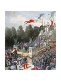 The Float of Harmony and Peace, National Fate, 22 September, France, 1892 Giclee Print by Henri Meyer