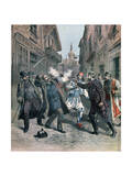 Assasination of M Beltchef in the Presence of Mr Stambouloff, Bulgaria, 1891 Giclee Print by Henri Meyer