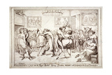 Waltzing! or a Peep into the Royal Brothel, Spring Gardens, London, C1816 Giclee Print by Isaac Robert Cruikshank