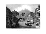 The Rialto at Venice, 1843 Giclee Print by J Jackson