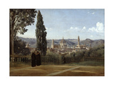 Florence, View from the Boboli Gardens, 1835-1840 Giclee Print by Jean-Baptiste-Camille Corot