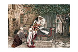 Christ Raising the Daughter of Jairus, Governor of the Synagogue, from the Dead, 1897 Giclee Print by James Jacques Joseph Tissot