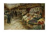 Flower Market, 1882 Giclee Print by Jean Francois Raffaelli