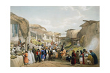 Bazaar at Kabul During the Fruit Season, First Anglo-Afghan War, 1838-1842 Giclee Print by James Atkinson