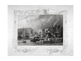 St Katharine's Dock, London, 1834 Giclee Print by James Tingle