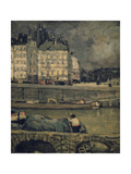 The Edges of the Seine, Paris, (1880-1924) Gicléetryck av James Wilson Morrice