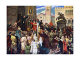 Peter the Hermit Preaching the First Crusade, 1926 Giclee Print by James Archer