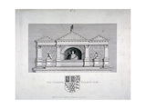 Monument to Sir Gilbert Talbot, Master of the Jewel House at the Tower of London, 1789 Giclee Print by James Fittler
