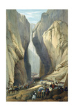 British Army Entering the Bolan Pass from Dadur, First Anglo-Afghan War, 1838-1842 Giclee Print by James Atkinson